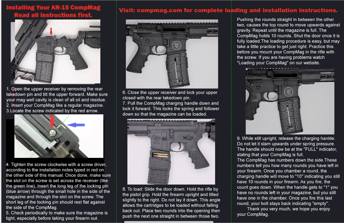 Installing Your AR-15 or AK-47 CompMag  - CompMag